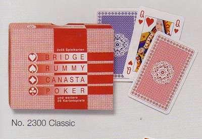 Classic franciakártya 2 * 55 lapos