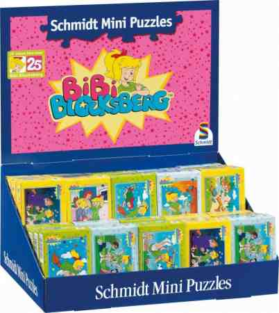 Bibi Blocksberg: Minipuzzle, 54 darabos, 5x8