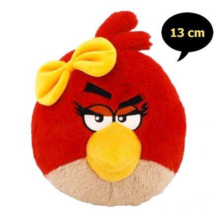 Angry Birds plüss - Lányos piros madár hanggal 13 cm