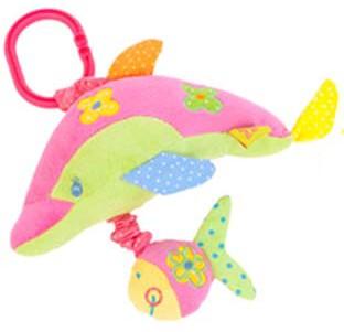 ARTESANIA BEATRIZ Delfin vibráló csíptetős csörgő játék tengervíz hanggal