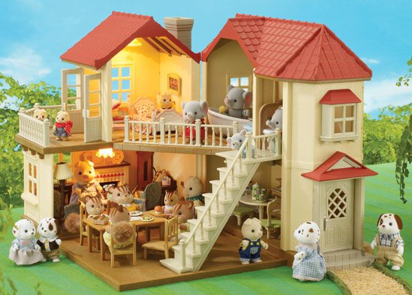 730ca994aa6b Sylvanian Families: Nagy ház világítással - Bébizsiráf Játékbolt