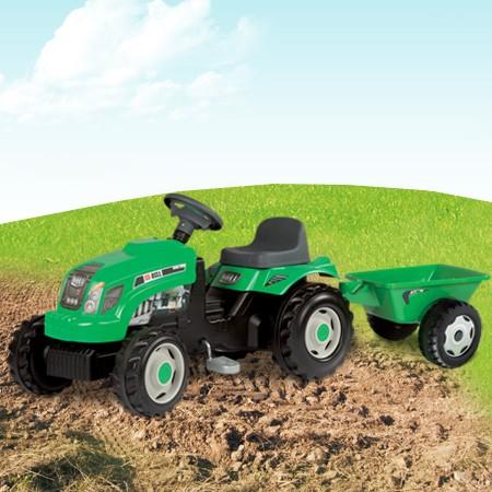 Bull traktor utánfutóval zöld